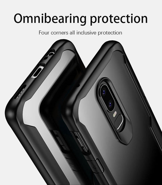 Luxury Anti Shock EAGLE Series Naked Shell Case with Soft Bumper Edges for OnePlus 6