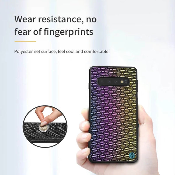 Nillkin Rainbow Gradient Reflector Glitter TPU Case for Samsung Galaxy S10 Plus