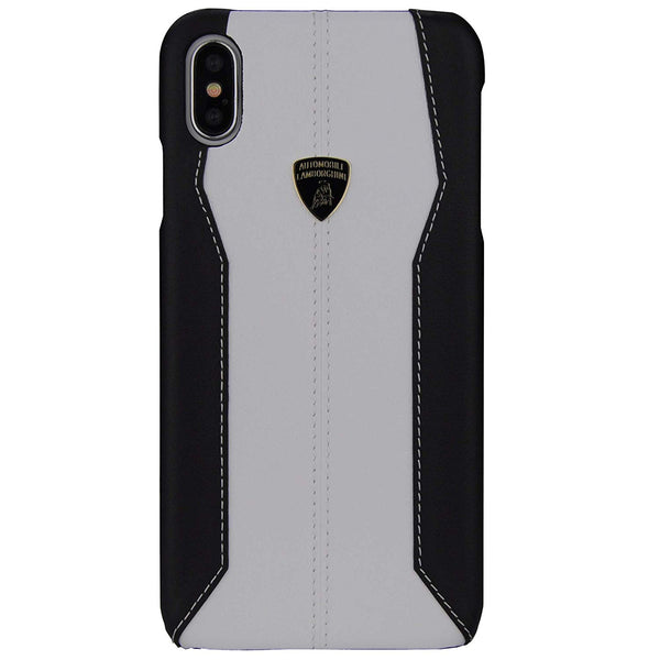 Official Lamborghini Huracan D1 Series Genuine Leather Anti Knock Back Case Cover for Apple iPhone X / XS