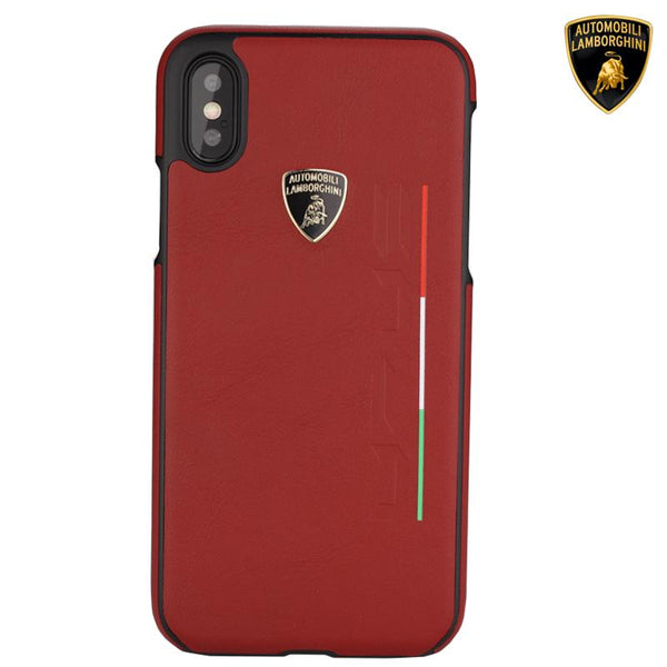 Luxury Automobili Lamborghini Urus D2 Series Genuine Leather Back Case Cover for Apple iPhone X / XS