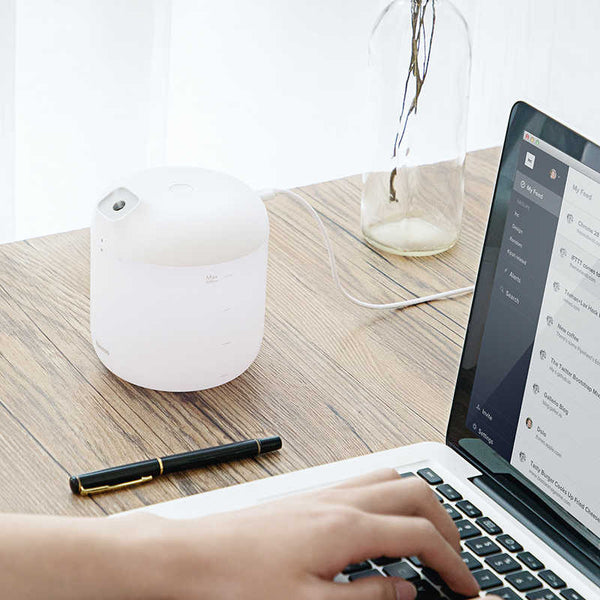 Baseus® Humidifier Mist Sprayer Aroma Diffuser for Home/Office Use with Night Lamp