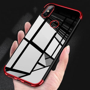 Laser Electroplating Utra Thin Transparent Soft Back Case for Xiaomi Redmi Note 5 Pro
