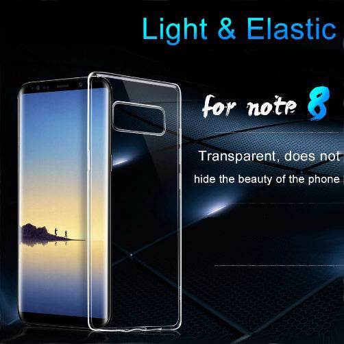 Premium Ultra Slim Clear TPU Soft Silicone Back Case Cover for Samsung Galaxy Note 8
