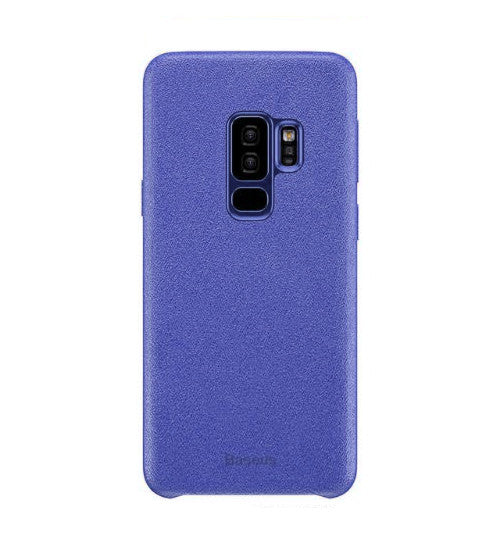 Luxury Microfiber Finish Soft TPU Alcantra Fabric Back Case for Samsung Galaxy S9 Plus