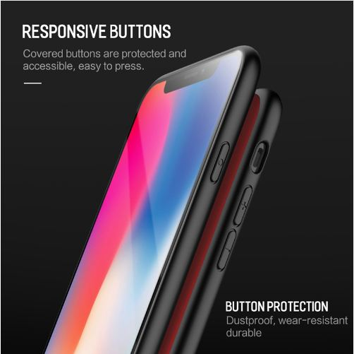 Luxury 9H Hardness Tempered Glass Case with Soft TPU Bumper Back Cover Case for Apple iPhone XS 2018