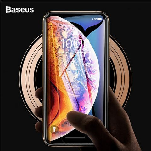 Baseus Full Screen Coverage Full Glue Curved Edge Anti Shatter 0.3mm 3D Tempered Glass Screen Protector for Apple iPhone XS Max - BLACK