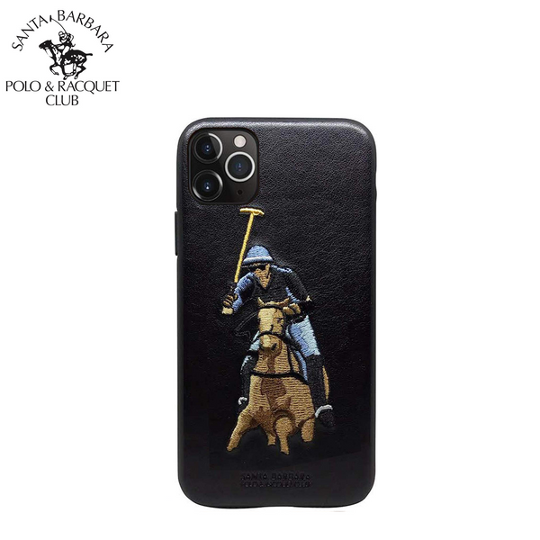 Polo® & Racquet Club Santa Barbara Jockey Series Genuine Leather Case for Apple iPhone 11 Pro