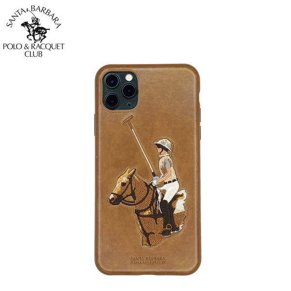 Polo® & Racquet Club Santa Barbara Jockey Series Genuine Leather Case for Apple iPhone 11