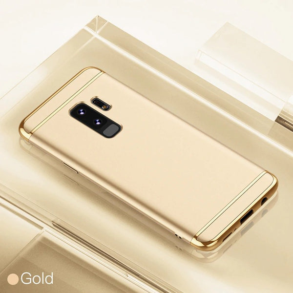 Luxury Ultra Slim 3in1 Gold Electroplating Hard Back Case Cover for Samsung Galaxy S9 Plus