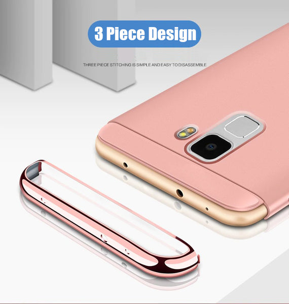 Luxury Ultra Slim 3in1 Gold Electroplating Hard Back Case Cover for Samsung Galaxy S9