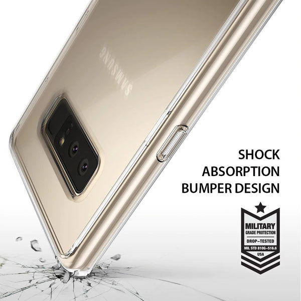 Premium Raised Edges Anti-Shock Fusion Shockproof Clear Back Case Cover for Samsung Galaxy Note 8