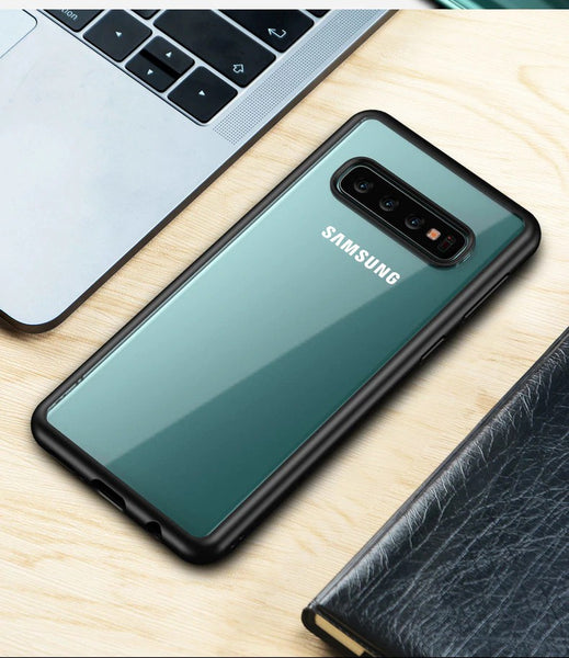 Premium Avenza Hard Acrylic Back Case with Soft TPU Edges for Samsung Galaxy S10 Plus