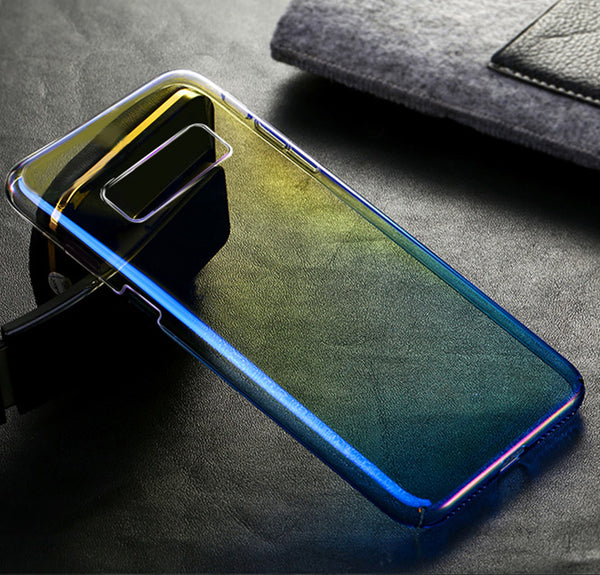 Luxury Blue Ray Laser Gradient Dual Color Hard Back Case Cover for Samsung Galaxy Note 8