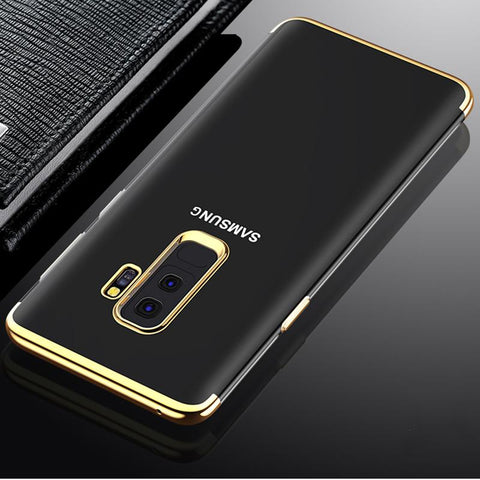Luxury Laser Plating Utra Thin Transparent Hard Back Case Cover for Samsung Galaxy S9