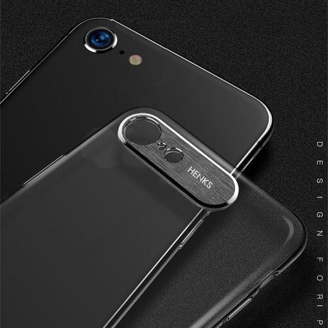 Premium Metal Camera Protection Ultra Slim Hard Matte Back Case Cover for Apple iPhone 8