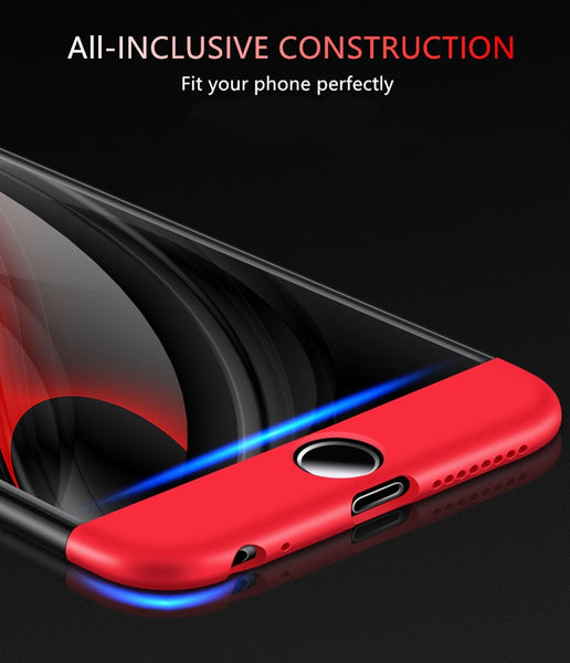 Premium Ultra Slim 3in1 360 Body Full Protection Hard Matte Front + Back Cover for Apple iPhone 7