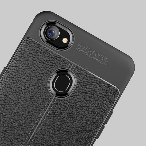 Luxury Anti-Shock Full Protective Leather Design TPU Back Case For Oppo F7