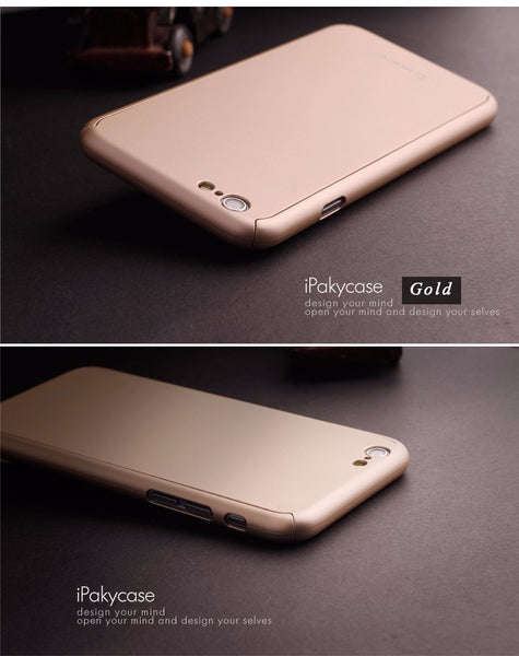 Premium Matte Finish 360 Full Body Protection Front + Back Cover for Apple iPhone 6 Plus
