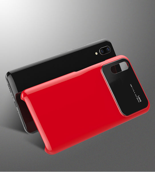 Luxury Smooth Mirror Camera Lens Anti Scratch Back Case Cover for Vivo X21