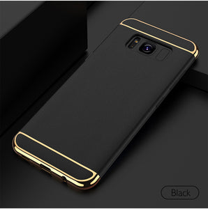 Luxury Ultra Slim 3in1 Electroplating Hard Back Case for Samsung Galaxy S8 Plus - BLUE