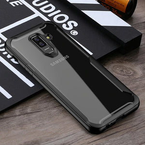 Luxury Anti Shock EAGLE Series Naked Shell Case with Soft Bumper Edges for Samsung Galaxy S9 Plus - Black