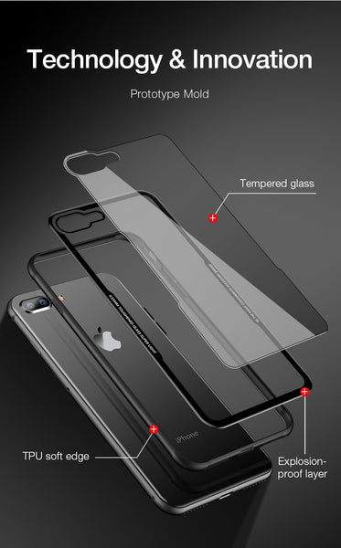 Premium Anti Scratch HD Clear 9H Hardness Tempered Glass Back Case Cover for Apple iPhone 8 Plus