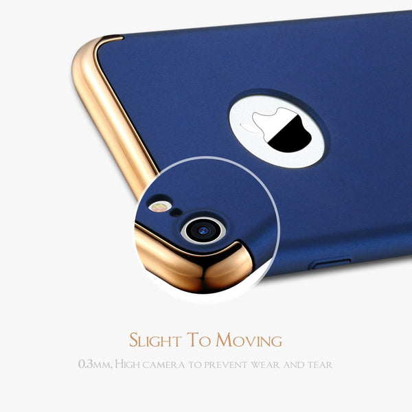 Luxury Ultra Slim 3in1 Gold Electroplating Hard Back Case Cover for Apple iPhone 7