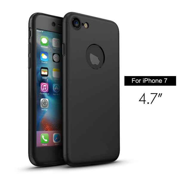 Premium Matte Finish 360 Full Body Protection Front + Back Cover for Apple iPhone 7