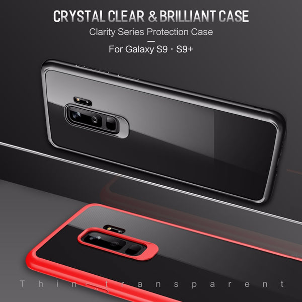 Premium Transparent Hard Acrylic Back with Soft TPU Bumper Case for Samsung Galaxy S9 Plus