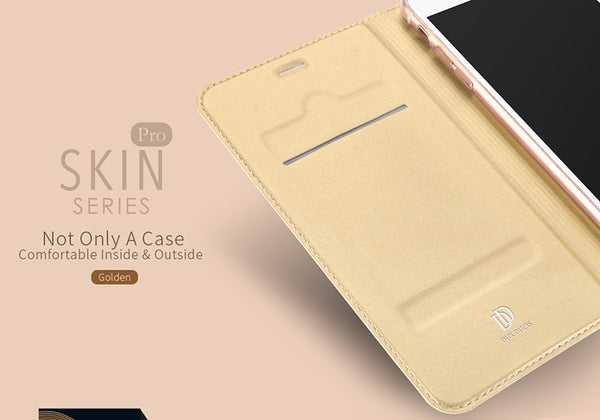 Luxury Smooth & Silky Skin Series PU Leather Wallet Flip Case Cover Folio for Apple iPhone 7 Plus