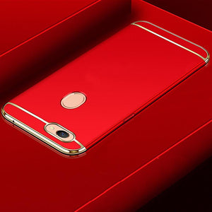 Luxury Ultra Slim 3in1 Gold Electroplating Hard Back Case Cover for Oppo F7
