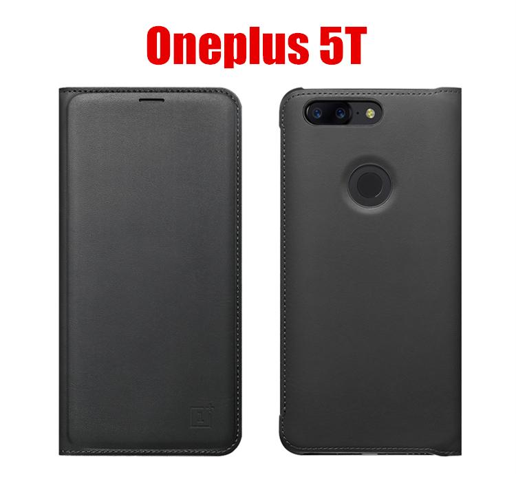 Luxury PU Leather Wallet Smart Auto Sleep Wake Up Sensor Flip Case Cover for OnePlus 5T / One Plus 5T - BLACK
