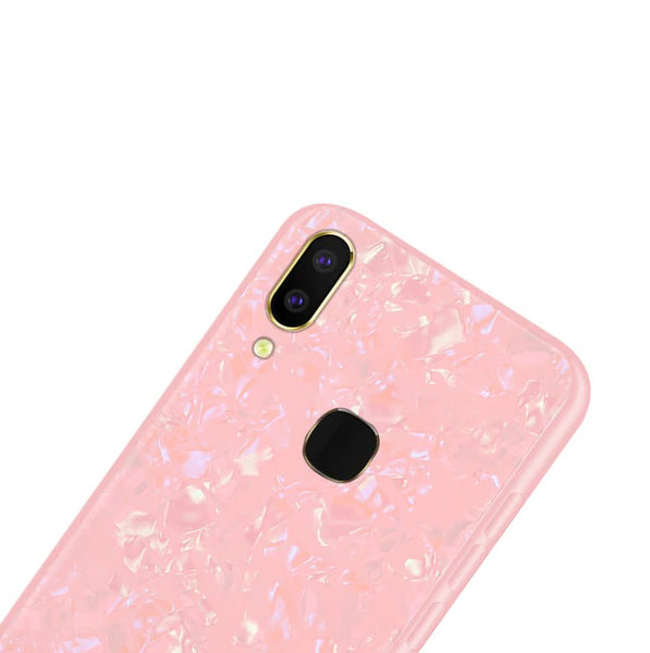 Luxury Explosion Proof Marble Pattern Tempered Glass Hard Back Case for Vivo V9