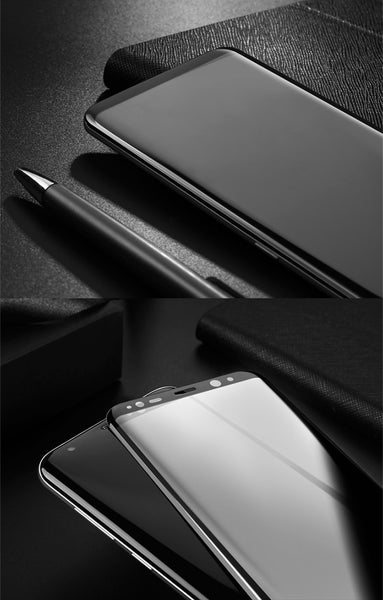 Premium Henks 5D Pro Full Screen Coverage Full Glue Curved Edges Anti Shatter Tempered Glass Screen Protector for Samsung Galaxy S8 Plus - BLACK