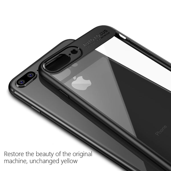 Premium Transparent Hard Acrylic Back with Soft TPU Bumper Case for Apple iPhone 7 Plus