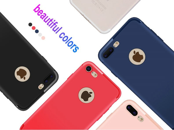Premium Ultra Thin Soft Silicone Matte Finish Dust Plug Back Case Cover for iPhone 7