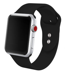 Plain Soft Silicon Rubberized Matte Wrist Band Watch Strap for Apple iWatch Series 1, 2 & 3 - [38mm]