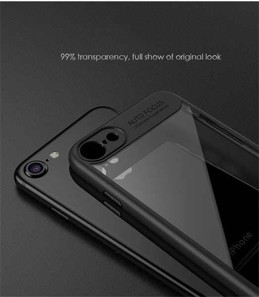 Premium Transparent Hard Acrylic Back with Soft TPU Bumper Case for Apple iPhone 7