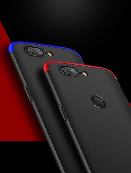 Premium Ultra Slim 3in1 360 Body Full Protection Hard Matte Front + Back Cover for OnePlus 5T