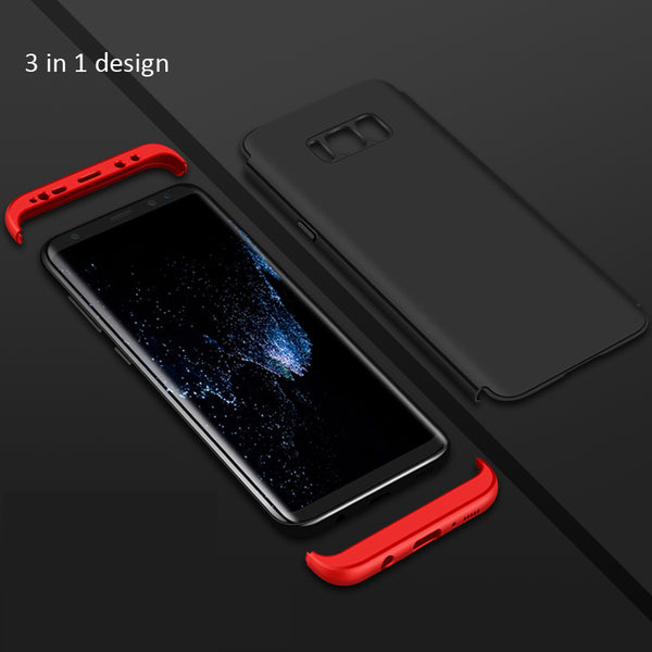 Premium Ultra Slim 3in1 360 Full Body Protection Hard Matte Front+Back Cover for Samsung Galaxy S8 Plus