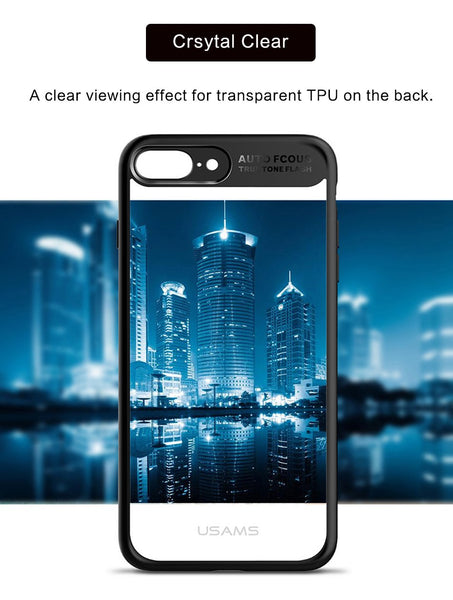 Premium Transparent Hard Acrylic Back with Soft TPU Bumper Case for Apple iPhone 8 Plus