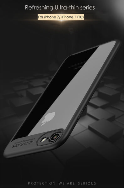 Premium Transparent Hard Acrylic Back with Soft TPU Bumper Case for Apple iPhone 8