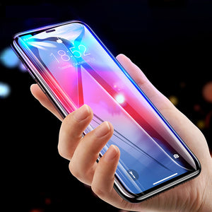 Premium Henks 5D Pro Full Screen Coverage Full Glue Curved Edges Anti Shatter Tempered Glass Screen Protector for Apple iPhone XS Max - BLACK