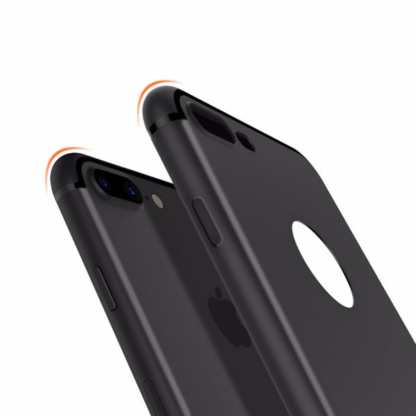 Premium Ultra Thin Soft Silicone Matte Finish Dust Plug Back Case Cover for iPhone 7 Plus