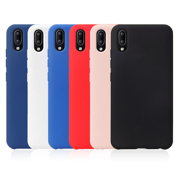 Premium Shockproof Soft Silicone Candy Case Bumper Back Cover for Vivo V11 Pro