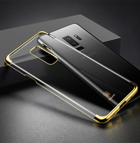 Premium Electroplated Anti-Scratch Shockproof PC Back Case for Samsung Galaxy S9 Plus