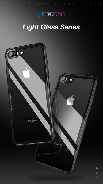 Premium Anti Scratch HD Clear 9H Hardness Tempered Glass Back Case Cover for Apple iPhone 8