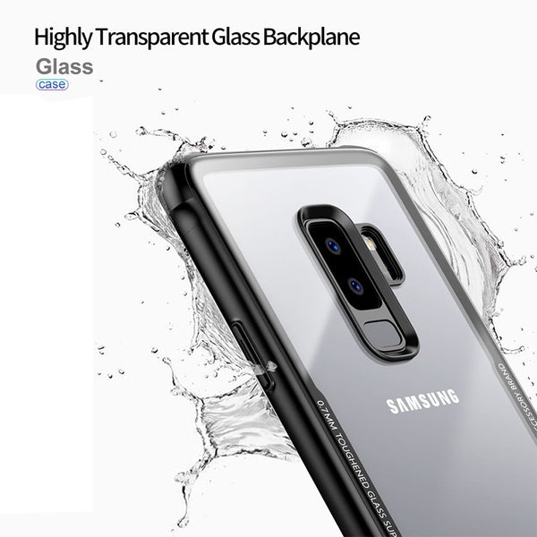 Premium Anti Scratch HD Clear 9H Hardness Tempered Glass Back Case Cover for Samsung Galaxy S9 Plus