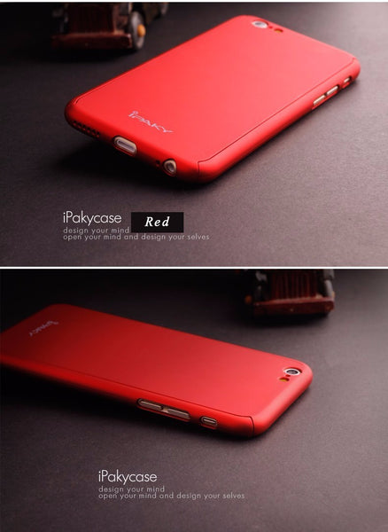 Premium 360 Full Body Protection Front + Back Cover for Apple iPhone 6 / 6S