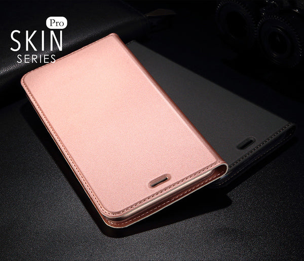 Luxury Smooth & Silky Skin Series PU Leather Wallet Flip Case Cover Folio for Apple iPhone 8 Plus
